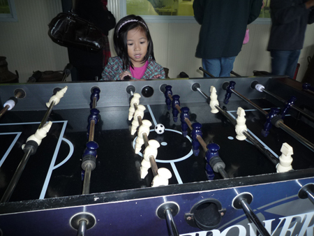 Yes, they had a foosball