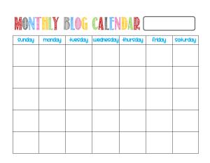 Blog Calendar image